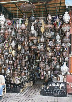 Lantern stall in the Souk Marrakech