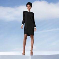 Women's Black Collared Dress - Victoria Beckham for Target : Target