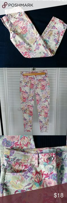 Flowers jeans  Skinny jeans with a very colourful print Blanco Jeans Skinny