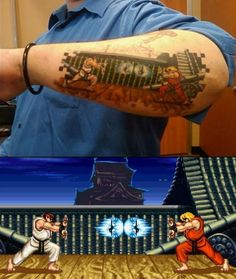 Cool Street Fighter Tattoo