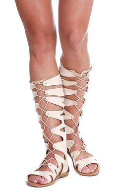 b1a9c6a8ee47 Yoki Shoes ISLANa-04 Lace Up Flat Knee High Gladiator Sandals   You can get  more details here   Lace up sandals