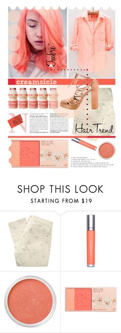 """""""Pinkish-Orange."""" by s-elle ❤ liked on Polyvore featuring beauty, Marc by Marc Jacobs, shu uemura, Bare Escentuals, Paul & Joe, Ralph Lauren Purple Label, ombrehair and creamsicle"""