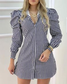 Trend Fashion, Look Fashion, Real Online, Mini Shirt Dress, Shirt Dress Pattern, Button Down Shirt Dress, Mode Chic, Casual Summer Dresses, Chic Outfits