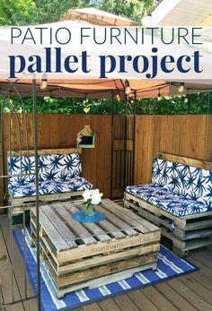 Decorating your patio is not a cheap task! But you can make your own patio furniture out of wood pallets and create your own pallet project masterpiece inexpensively! By creating your own p