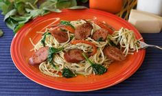 Meal time perfection! This herbaceous sauce makes a great twist on spaghetti night!
