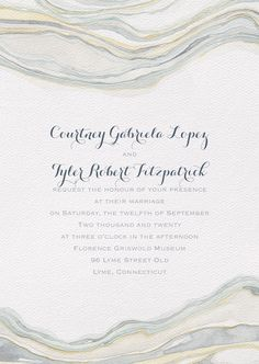 A beautiful sandstone design by Shell Rummel gives this wedding invitation just the right amount of excitement! Old Lyme, Watercolor Wedding, Wedding Invitations, Shell, Marriage, Beautiful, Design, Valentines Day Weddings, Wedding Invitation Cards