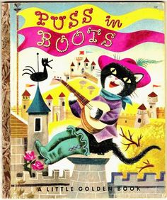 Vintage 1953 Little Golden Book PUSS IN BOOTS ~ First Edition A