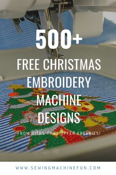 Download Free Christmas Machine Embroidery Designs (& Holiday!)