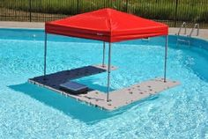 Floating inflatable pool bar keeps the party going and drinks cool without having to get out of the pool. Description from pinterest.com. I searched for this on bing.com/images