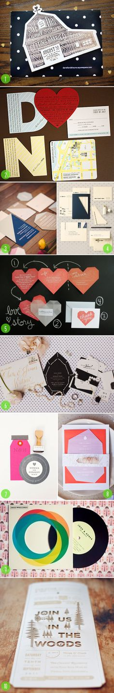 Top 10: Die cut invitations