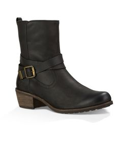 Look for insulating linings where you'd least expect them: These boots from Ugg Australia seem like just a cool leather moto style, but they hide a thick, wooly insole, like the brand's more casual classics.
