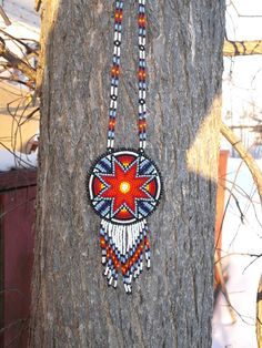 morning star native american beadwork by deancouchie on Etsy, $84.95