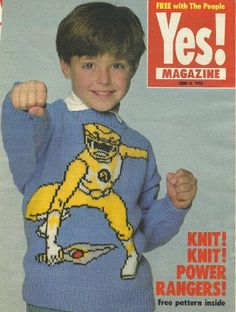 yellow power rangers childrens jumper knitting pattern yes magazine pullout: Amazon.co.uk: gary kennedy: Books