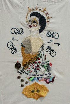Bordado feito a mão  Andrea Lourenco = Acepipes de     Lourenço  Embroidery Art  Broderie  https://www.instagram.com/p/BRv0hpsDPCA/