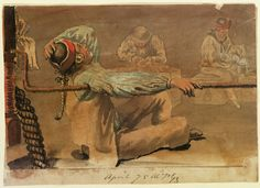 Image of life below deck on British vessel, 1775.
