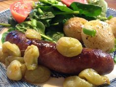 Roasted Sausages & Grapes - Cyndi
