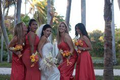 Informal Portrait Of Bride & Bridesmaids