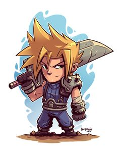 Cloud FFVII by DerekLaufman.deviantart.com on @DeviantArt