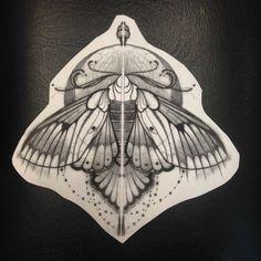 moth shoulder tattoo - Google Search