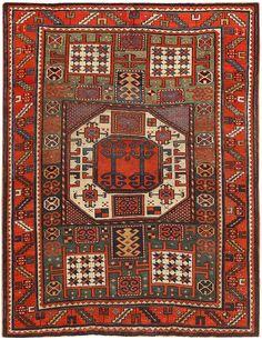 Antique Kazak Rug 46908 Main Image - By Nazmiyal