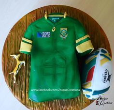 RWC 2015 Rugby Jersey Cake by Znique Creations Rugby Cake, Rugby World Cup, Creative Cakes, Helmets, Daily Inspiration, Amazing Cakes, Cake Ideas, Cake Decorating, Birthday Cake