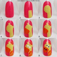 Tutorial Tuesday: Giraffe Nail Art! - Adventures In Acetone