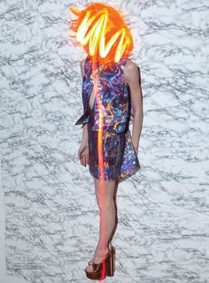Corpus Electra | Lida Fox by Viviane Sassen for Acne Paper Spring/Summer 2012