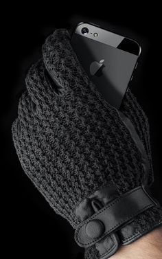 Mujjo's newest tech-friendly gloves have a handmade look and a cheaper price tag. Business Design, Gloves, Crochet, Cozy Winter, Leather, Accessories, Touch, Crochet Crop Top, Chrochet