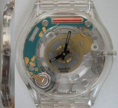 Swatch, Clock, Creative, Wall, Random, Google, Home Decor, Style, See Through