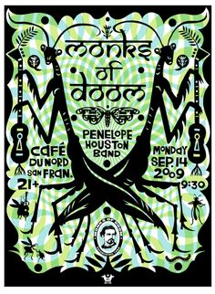 Michael Wertz poster for Monks of Doom