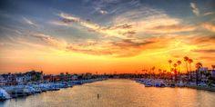 Summer sunset, California style...