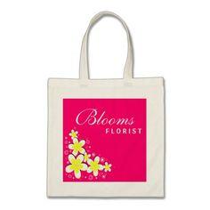 Frangipani Florist Flower Floral Budget Tote Bag