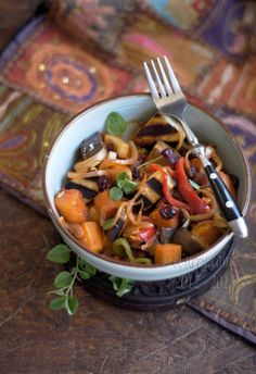 fall ratatouille with harissa