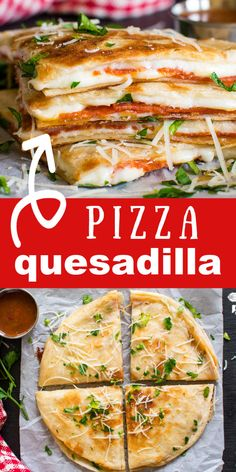 Pizza Quesadillas are so EASY to make and take about 5 minutes to fry. They're a hit with kids and adults too! No problem! Use a corn tortilla shells! Everyone loves pepperoni pizza and i Pizza Quesadilla, Quesadillas, Healthy Quesadilla, Meat Pizza, Pizza Cheese, Breakfast Quesadilla, Quesadilla Recipes, Cooking Recipes, Healthy Recipes