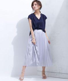 シンプルながらトレンドライクなシルエットのスキッパーシャツは一着持っているのがマスト。40代アラフォー女性のスキッパーシャツのコーデ♪