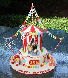 Similar to Landon's First Bday Cake ~Circus Cake: