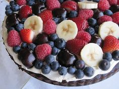 Chocolate Crusted Fruit Pizza- Gluten Free