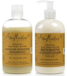 Shea Moisture Raw Shea Butter DUO set Moisture Retention Shampoo  Restorative Conditioner 13 Ounce 1 each >>> More info could be found at the image url.(This is an Amazon affiliate link and I receive a commission for the sales)