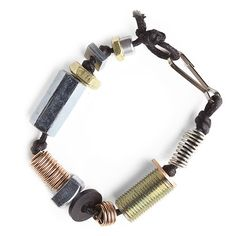 Tween Craft: Hardware jewelry from buts and bolts (made from steel, which is mostly made from iron).
