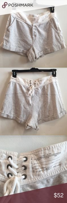 AllSaints Spitalfields  W Boxing Shorts Size US 8 ALLSAINTS Jacks Place Women's Boxing Shorts 100% Cotton UK Size 12/ US 8 Button Front Lace Back. So Comfortable!! All Saints Shorts