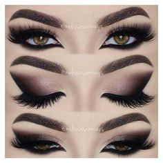 Instagram post by ⭐Youtuber ▪ Make Up Artist • Sep 25, 2016 at 2:59pm... ❤ liked on Polyvore featuring eyes