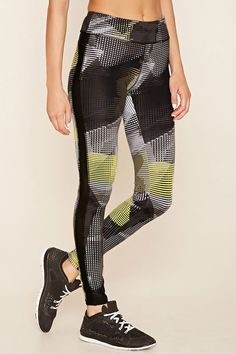 Active Abstract Print Leggings | Forever 21 - 2000219542