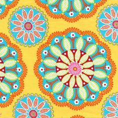 Michael Miller Yellow Kaleidoscope