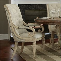 Lowest price online on all American Drew Jessica McClintock The Boutique Upholstered Arm Dining Chair in White Veil - Outdoor Furniture Chairs, Wooden Adirondack Chairs, Dining Room Table Chairs, Leather Dining Room Chairs, Side Chairs, Desk Chairs, Leather Chairs, Business Furniture, Furniture Sale