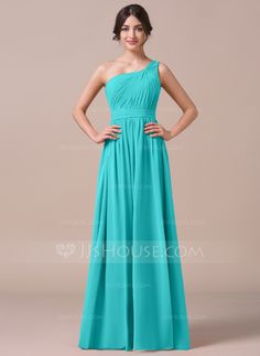 A Line One Shoulder Dress