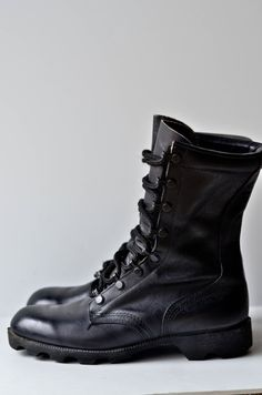 Vintage Black Combat Boots ~  I wish I still had my Harley Boots~  I wore them until they had holes in them  :)