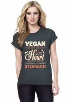 Vegan Heart Women's T-Shirt ~~ Unite for the animals, free worldwide shipping