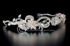 Vintage Pearl Wedding Headband
