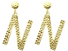 Golden Letters Earring (More Initials!!) · Naroshe' · Online Store Powered by Storenvy