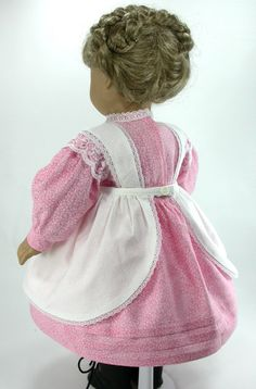 18 Inch Doll Clothes for American Girl Dolls - Easter Dress and Apron for Kirsten